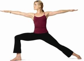 Mariel-Hemingway Standing Yoga